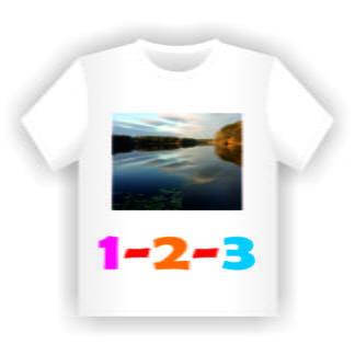 T-Shirt Druck (weiß)